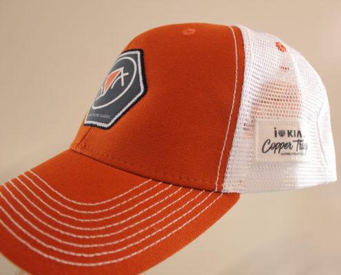 Orange and White Hat