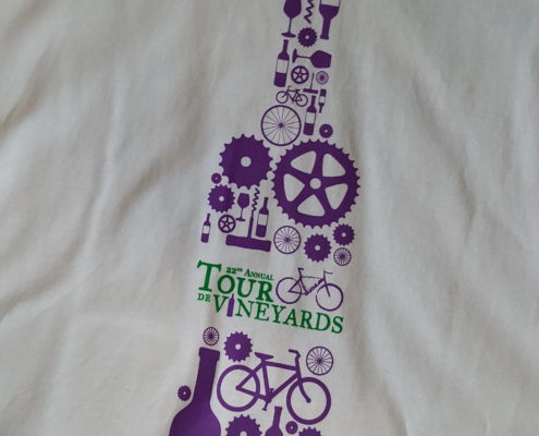 White Tour de Vineyards Shirt