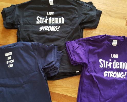 Stridemob Colored Shirts