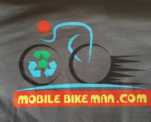 Mobile Bike Man Logo