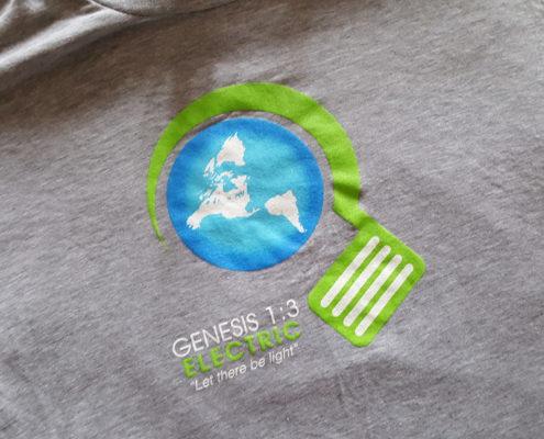 Genesis Electric Grey Shirt Logo Pile