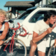 Two Men with Bikes