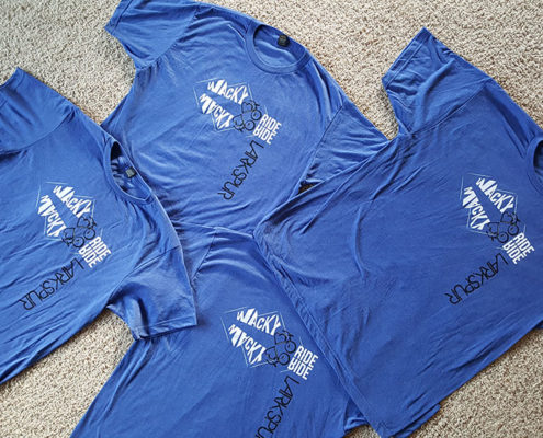 Four Blue Shirts
