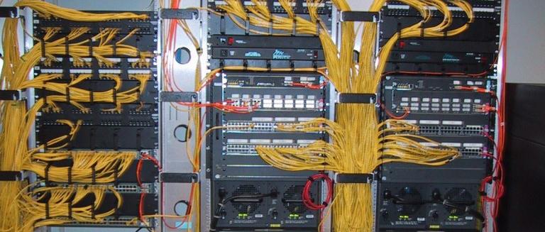 Three Yellow Wired Panels
