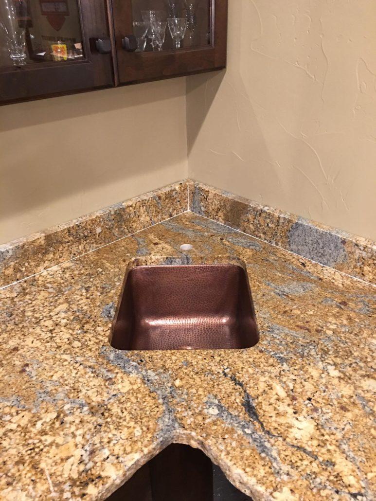 Corner Sink Wet Bar