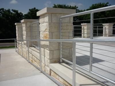 White Brick Columns