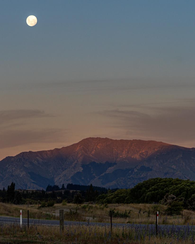 Moon over Mountains Portrait