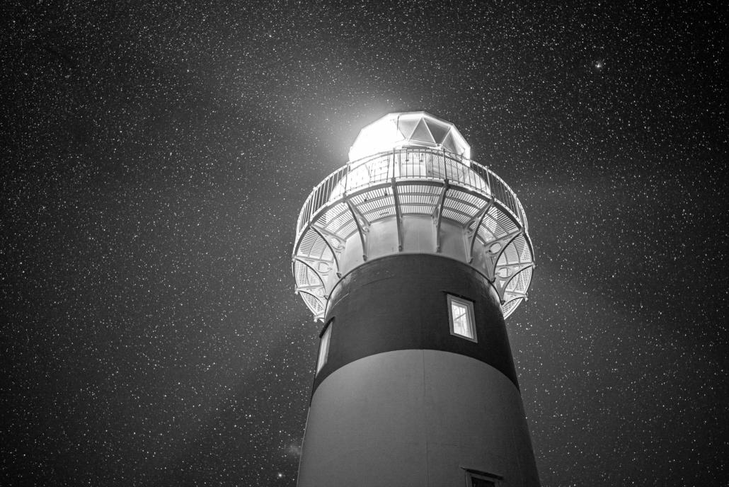 Lighthouse in Black & White
