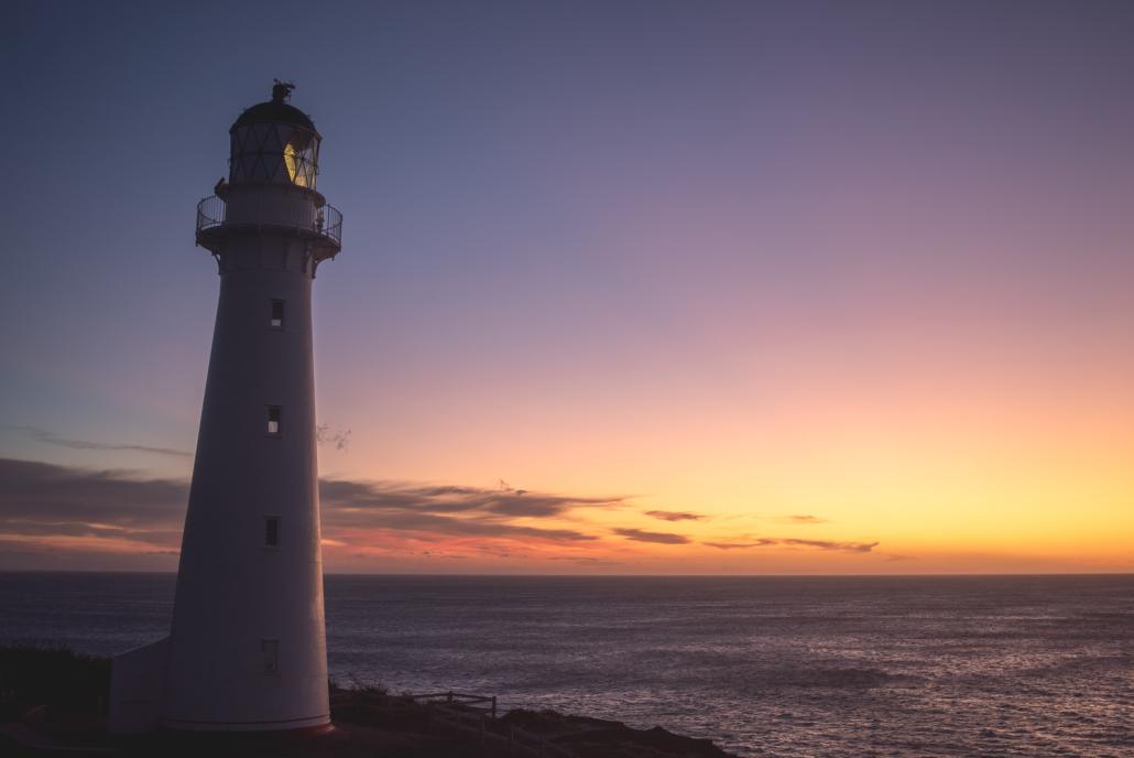 Lighthouse Sunset at Dusk