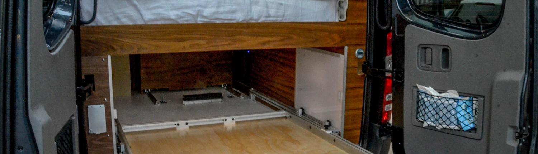 Interior Bed on Van Conversion