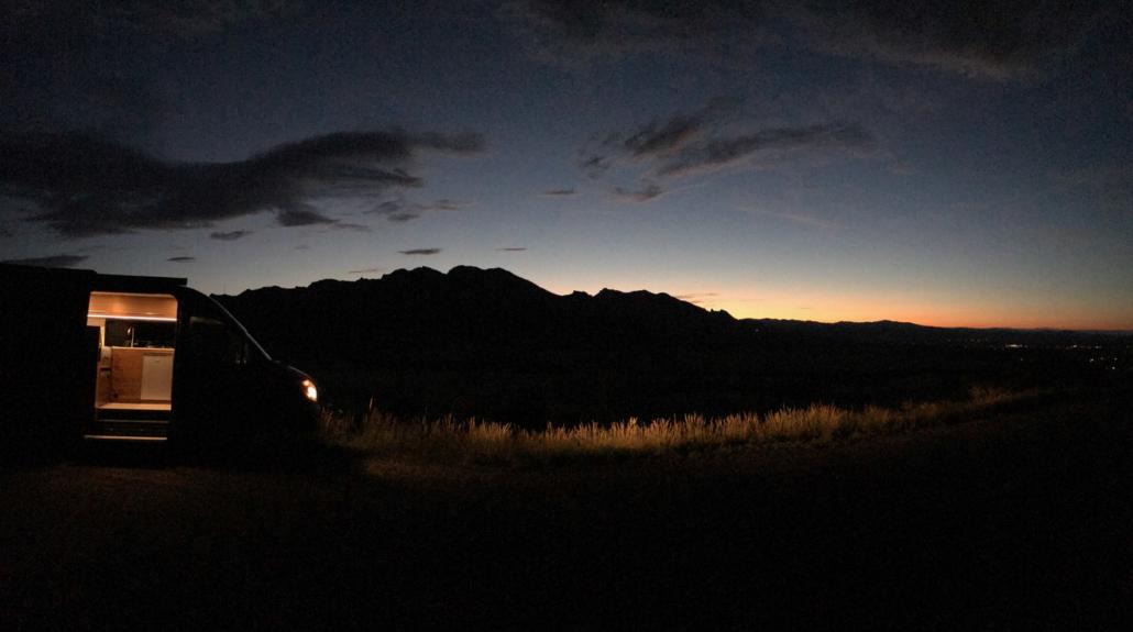Van Light at Night