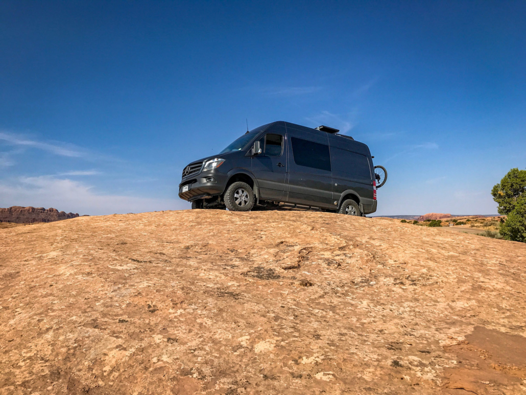 Colorado Adventure Van on a Hill