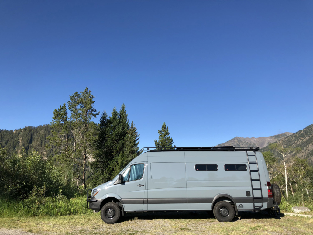 Blue Van Outdoors