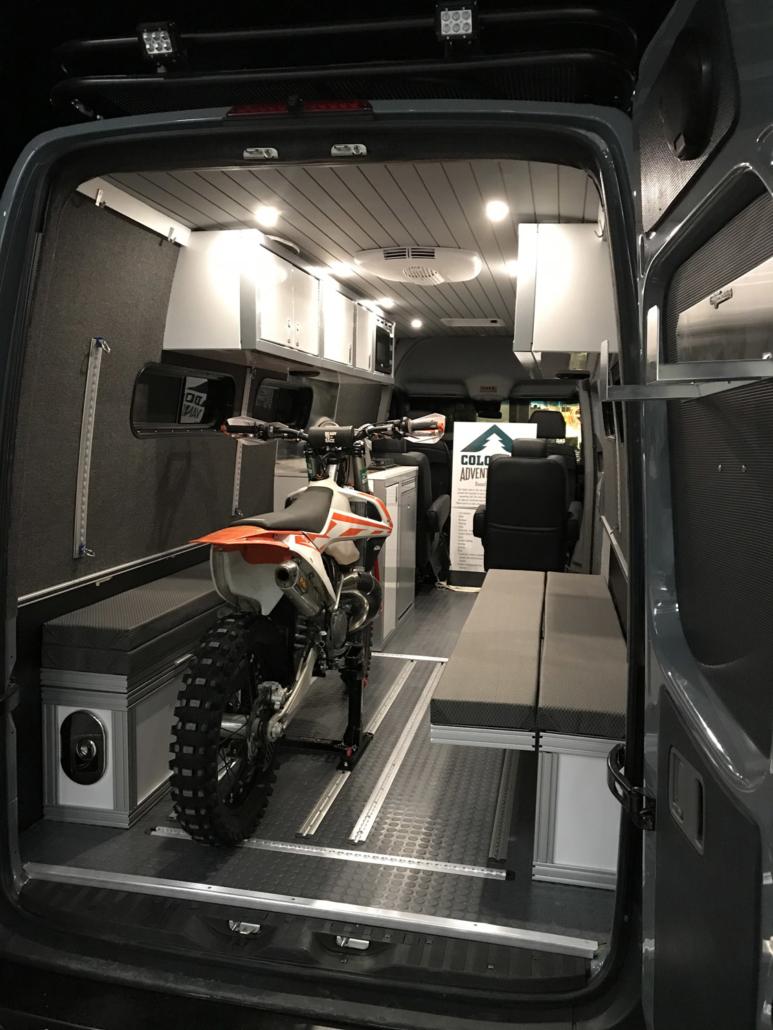 Motorbike inside Van Conversion