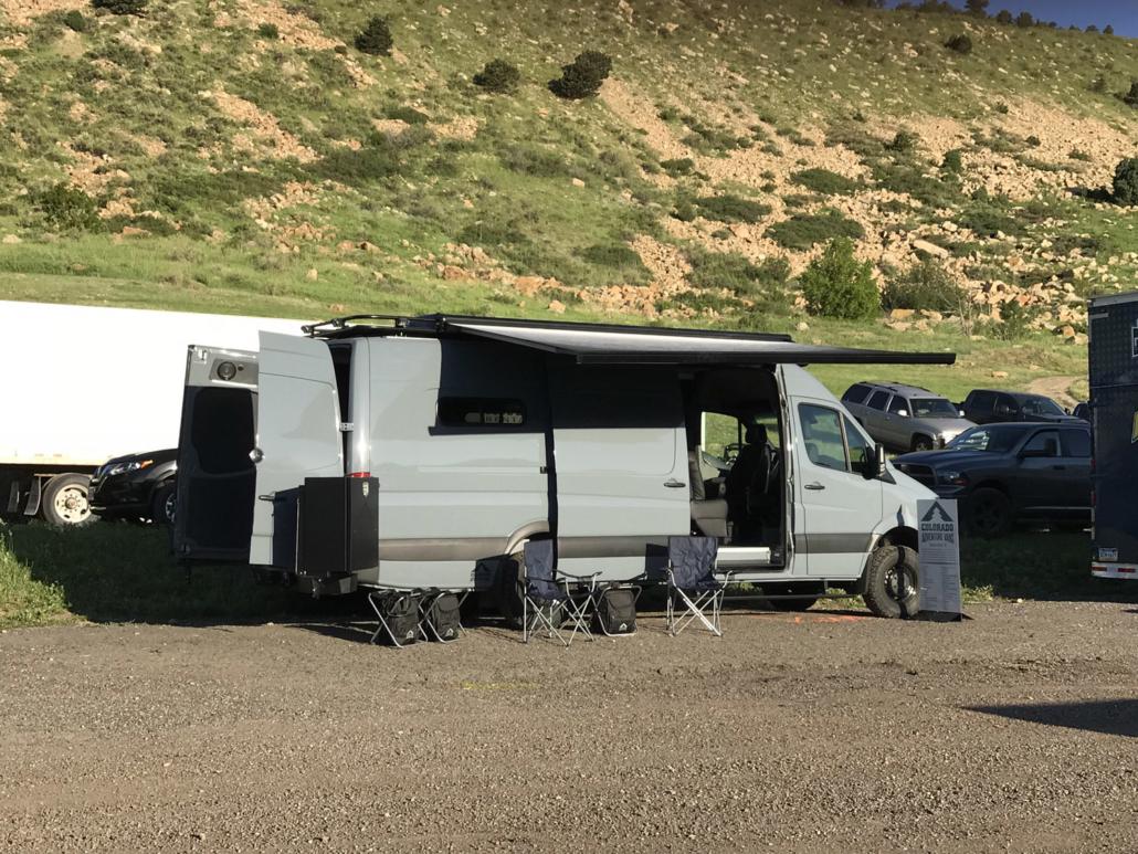 Camping in Van Conversion