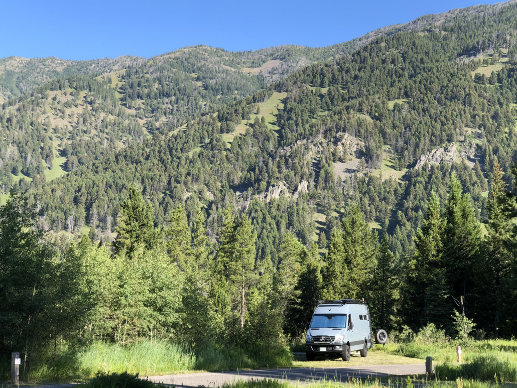 Blue Van Conversion by Forest