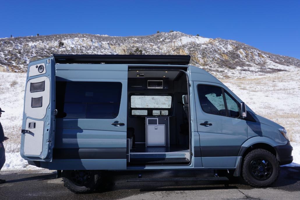 Open Doors to Van Conversion