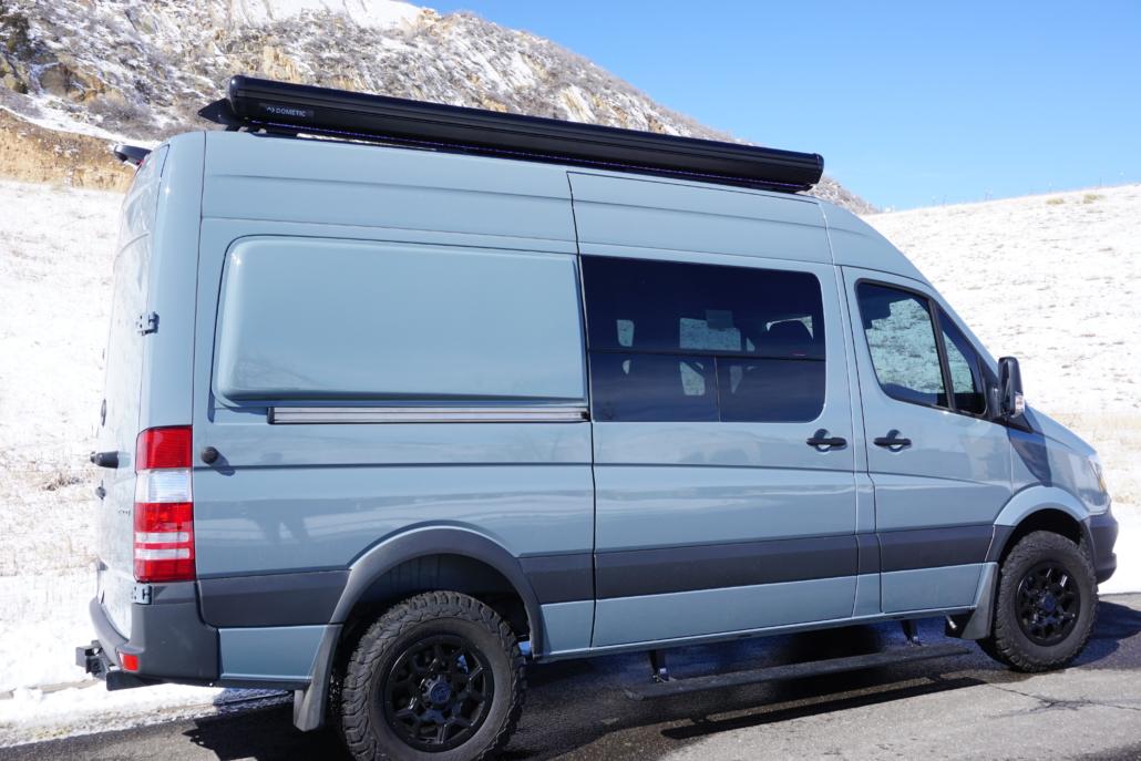 Blue Van Conversion