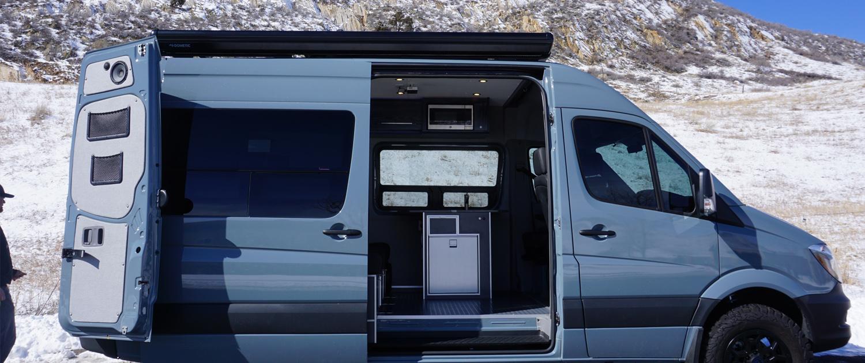 Blue Mercedes Van Conversion