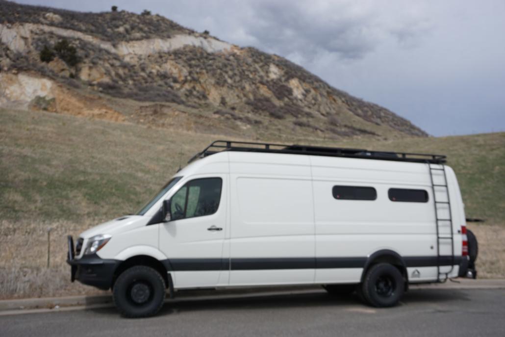 Customer White Van by Mountains