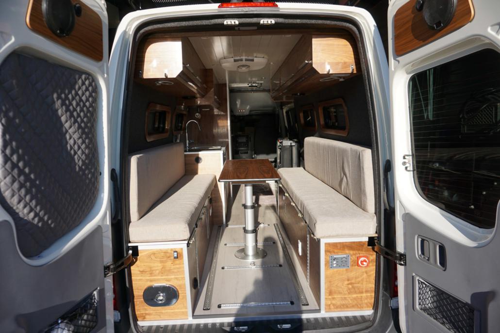 Bench Table in Van