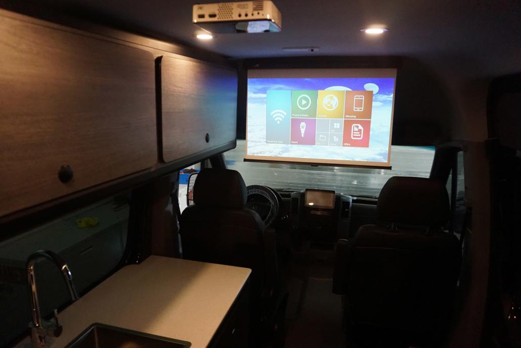 Interior Van Projector