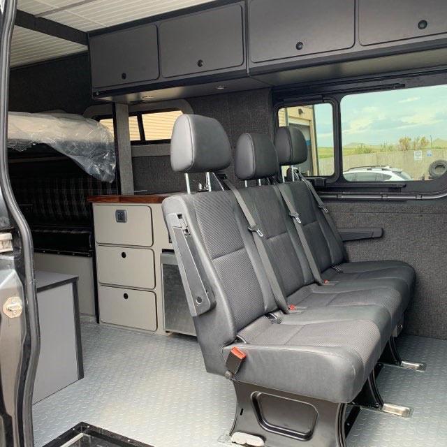 Interior of Vans for Rent Colorado